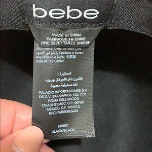 bebe Accessories - Bebe black wool fedora